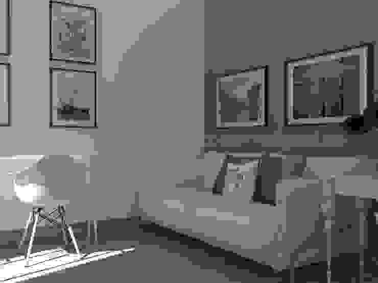 Habitación de invitados y zona de trabajo Casas de estilo ecléctico de MUMARQ ARQUITECTURA E INTERIORISMO Ecléctico