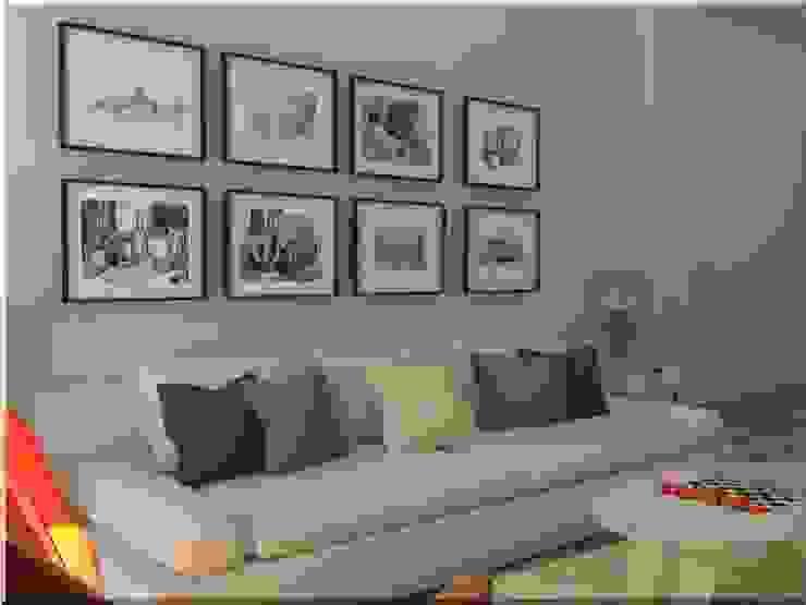 Zona de sofá Casas de estilo ecléctico de MUMARQ ARQUITECTURA E INTERIORISMO Ecléctico