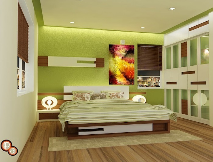 Bedroom Design-- Raj residency Modern style bedroom by Preetham Interior Designer Modern