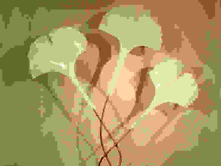 "Grand Luminaire ""Feuillage de Ginkgo"" par Artiste Sculpteur Industriel"