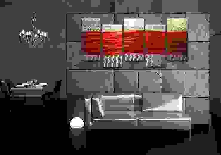 Metal Wall Art Red Waves: modern  by Matthew's Art Gallery, Modern