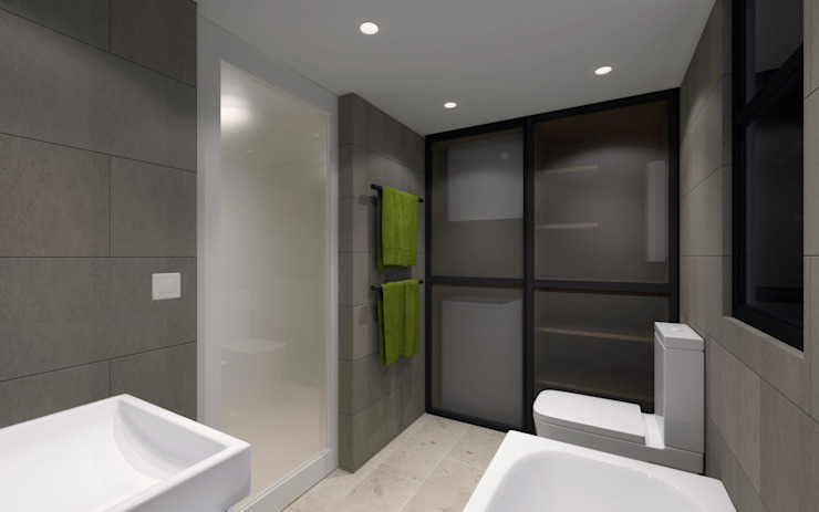 Minimalist style bathrooms by arctitudesign Minimalist