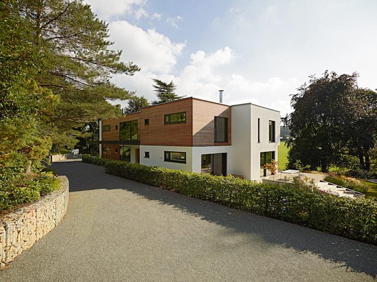 Casas modernas por Bau-Fritz GmbH & Co. KG Moderno