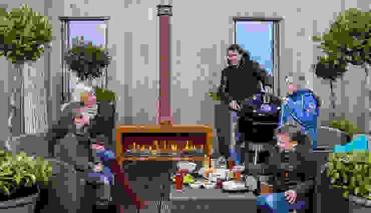 Dim-ora Caminetti su misura a gas, elettrici e a bioetanolo Balkon, Veranda & TerrasseBeleuchtung