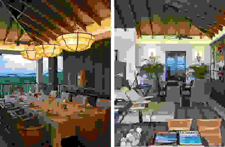 ZONA PRANZO - SOGGIORNO Sala da pranzo in stile tropicale di ANG42 Tropicale