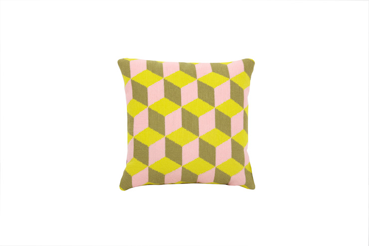 Pentreath & Hall Falling Cubes - Pink and Yellow: modern  by Fine Cell Work, Modern