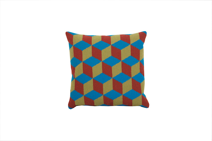 Pentreath & Hall Falling Cubes - Blue and Green: modern  by Fine Cell Work, Modern