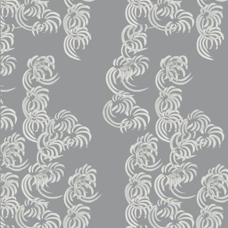 Fullblown- dove grey: modern  by The Biggest Blanket Company, Modern