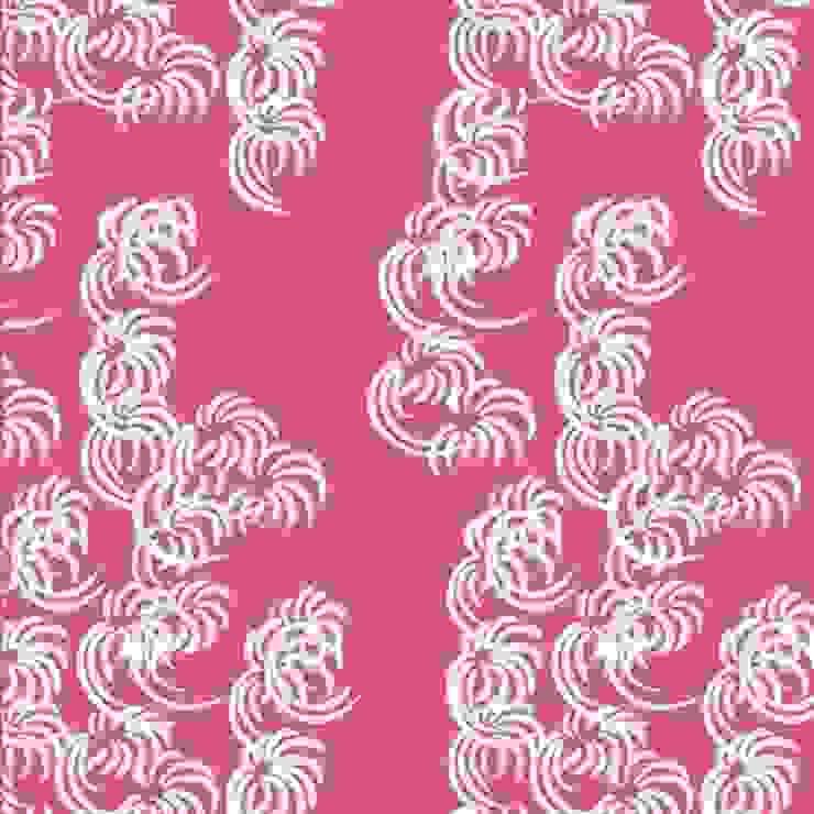 Fullblown- turkey red: modern  by The Biggest Blanket Company, Modern