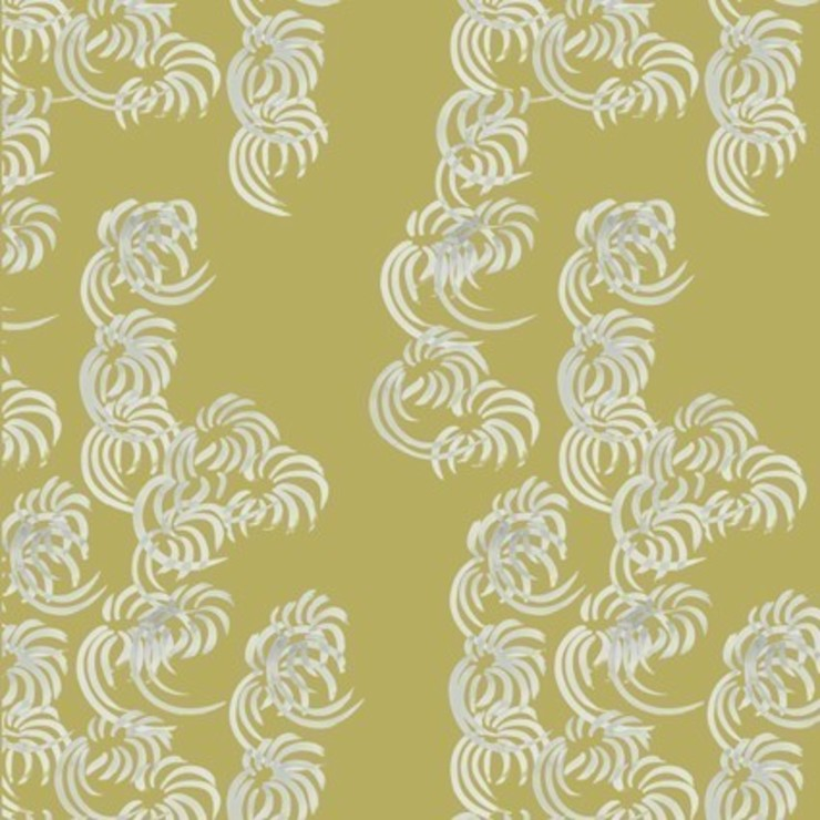 Fullblown- ming yellow: modern  by The Biggest Blanket Company, Modern