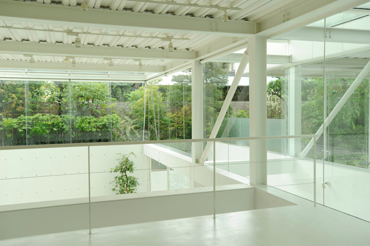 AIRSPACE TOKYO Eclectic style houses by studio M architects / 有限会社 スタジオ エム 一級建築士事務所 Eclectic