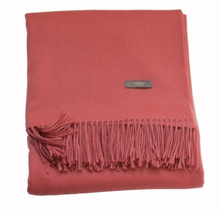 coral cashmere: modern  by The Biggest Blanket Company, Modern