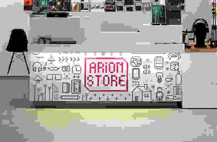Arion Store – Interior & Furniture Design by Studio Algoritmo Negozi & Locali commerciali in stile minimalista di Studio Algoritmo Minimalista