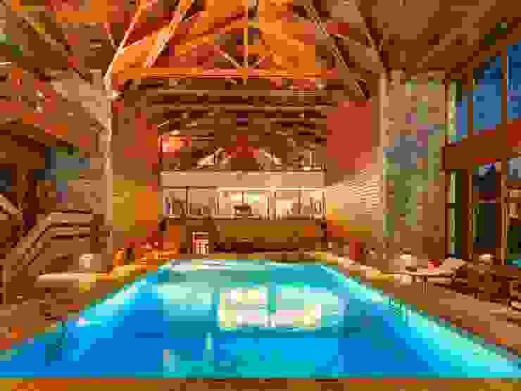 Elatos Resort & Health Club: rustic  by studioReskos, Rustic