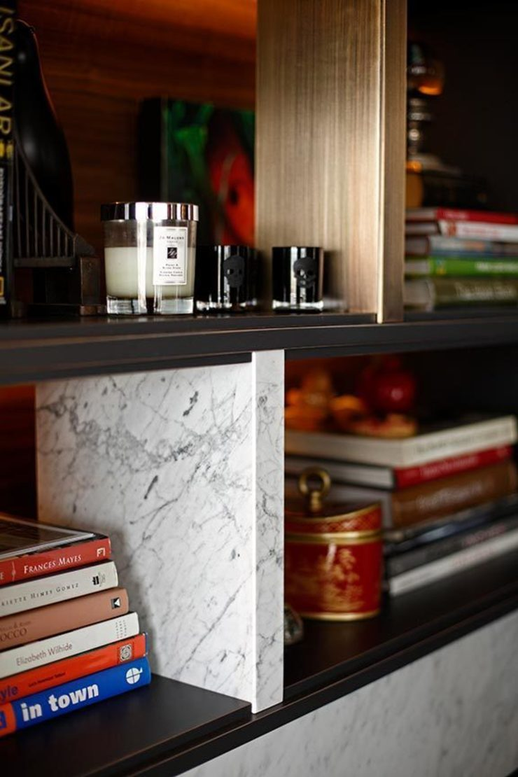 Details library Eclectic style living room by Esra Kazmirci Mimarlik Eclectic