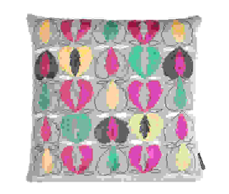 Kit Kemp Heart of Oak - Pink & Green on Grey: modern  by Fine Cell Work, Modern