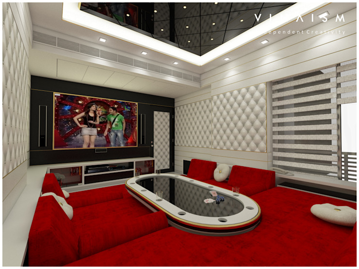white home theater V I N A I S M Rooms