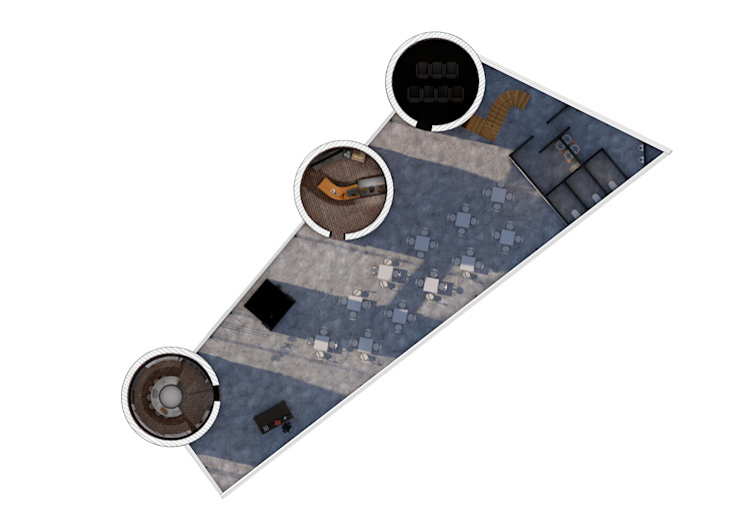 Ground Floor Plan: industrial  by Interior Design Graduate, Industrial