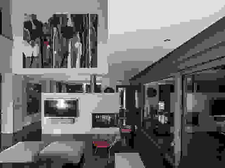 Vivienda en Asturias Salones de estilo moderno de EAS Arquitectura Moderno