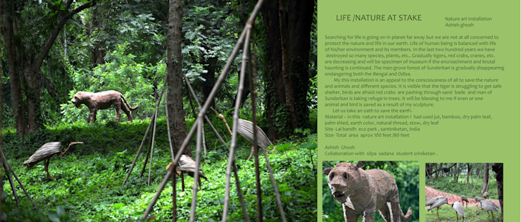 LIFE NATURE AT STAKE: modern  by mrittika,  the sculpture,Modern