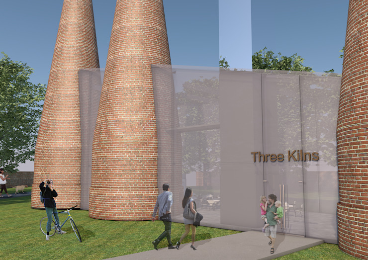 Three Kilns Exterior: industrial  by Interior Design Graduate, Industrial