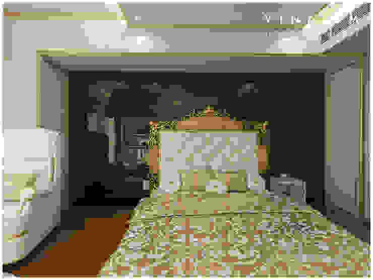white n golden Bedroom by V I N A I S M