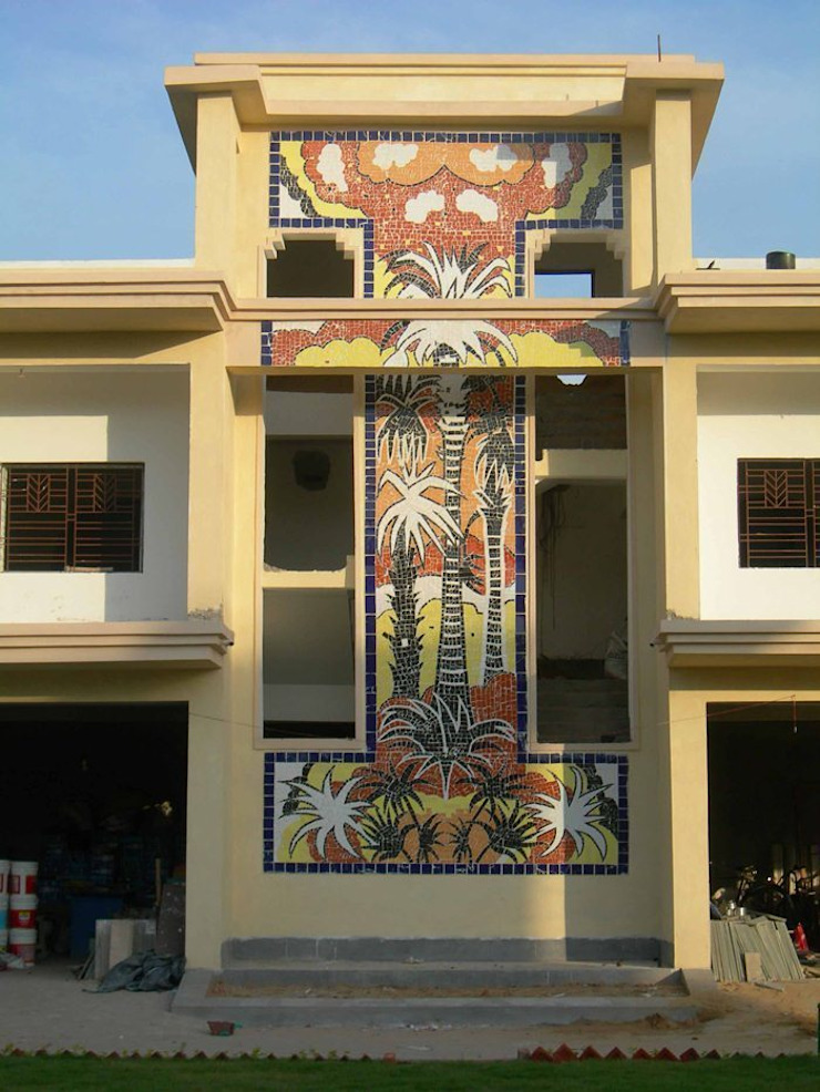 Art project for  Indian oil residential complex at Bolpur, west Bengal, India : country  by mrittika,  the sculpture,Country