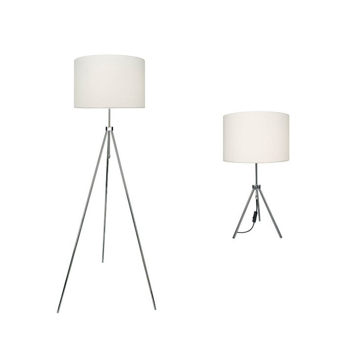 Polished chrome table lamps: modern  by Socket Store, Modern