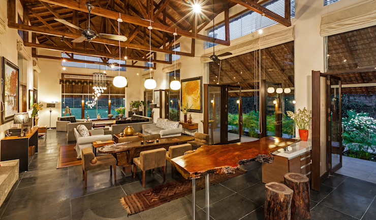 G Farm House Eclectic style living room by Kumar Moorthy & Associates Eclectic