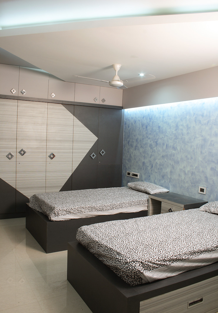 Guest Bedroom Modern houses by Hasta architects Modern