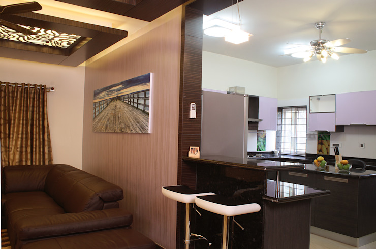 Kitchen Modern houses by Hasta architects Modern