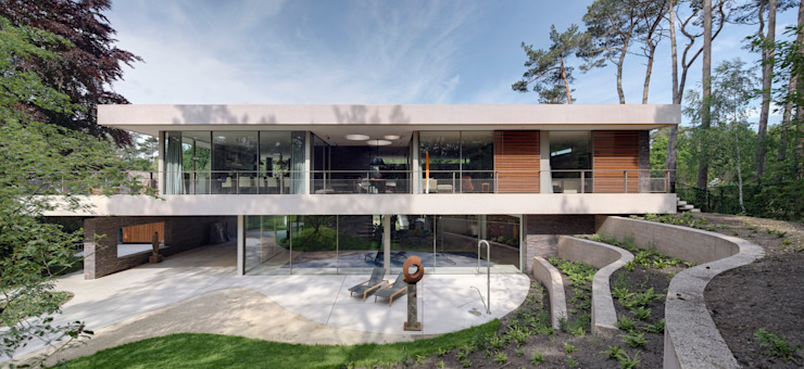 Dune villa Modern style gardens by HILBERINKBOSCH architecten Modern
