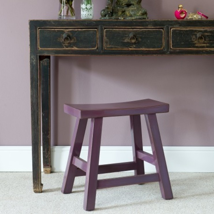 Chinese Berry Lacquer Stool by Orchid