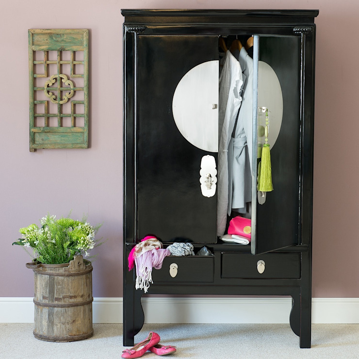 Black Lacquer Wedding Cabinet by Orchid