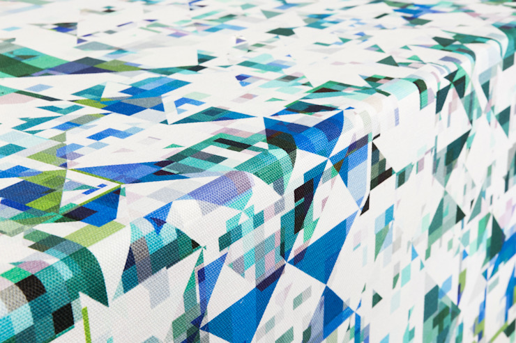 Northmore Minor- Teal fabric by Flock