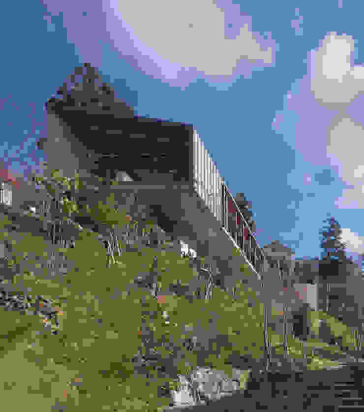 西側外観遠景 モダンな 家 の TOSHIAKI TANAKA&ASSOCIATES/田中俊彰設計室 モダン