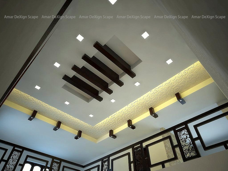 Modern Ceiling Asian style living room by Amar DeXign Scape Asian