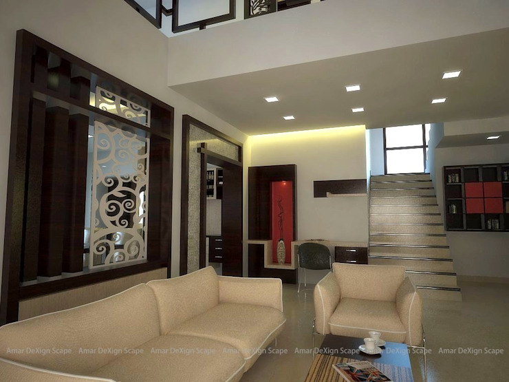 Dinning Partition Asian style living room by Amar DeXign Scape Asian