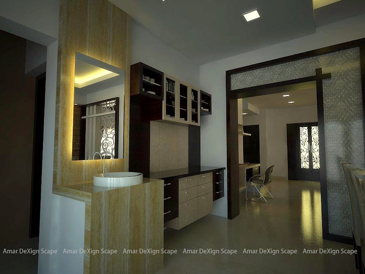 Residential Interiors Asian style living room by Amar DeXign Scape Asian