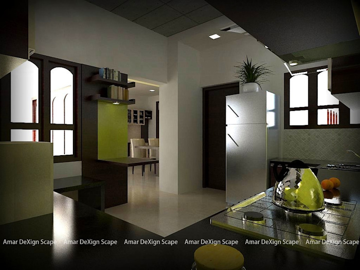 Kitchen Asian style living room by Amar DeXign Scape Asian