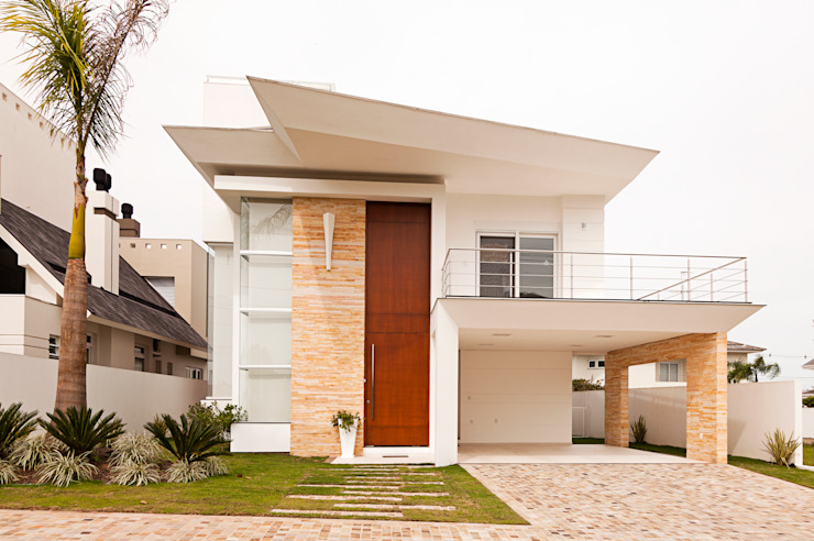 모던스타일 주택 by Biazus Arquitetura e Design 모던