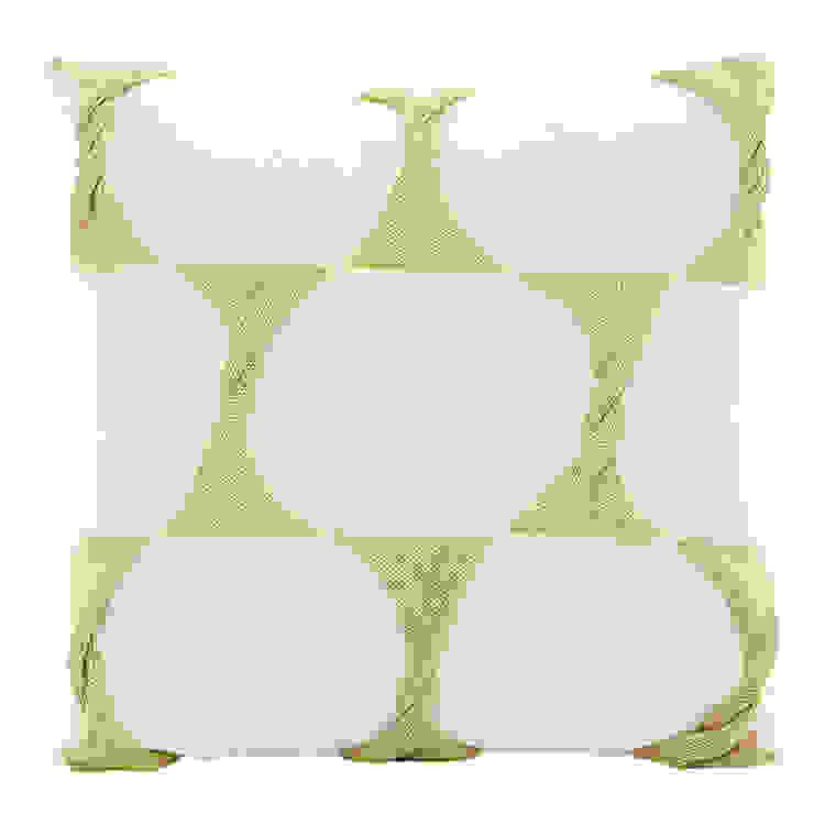 Twist Cushion - Cream Celery: modern  by From Brighton With Love, Modern