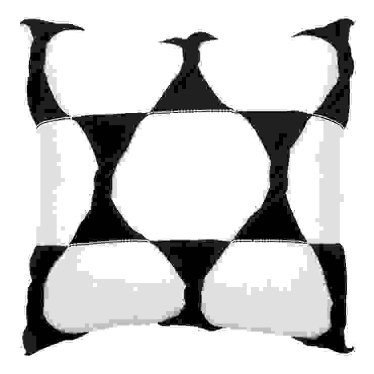 Twist Cushion - Cream / Jet: modern  by From Brighton With Love, Modern