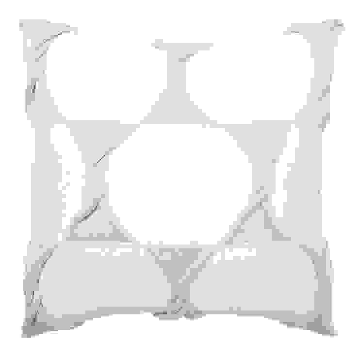 Twist Cushion - Cream / Silver: modern  by From Brighton With Love, Modern