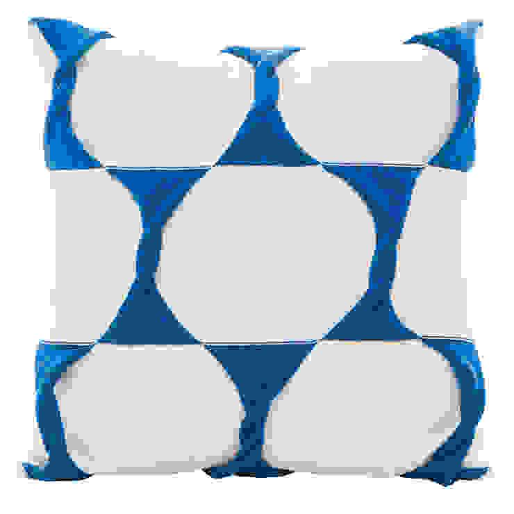 Twist Cushion - Cream / Marine: modern  by From Brighton With Love, Modern