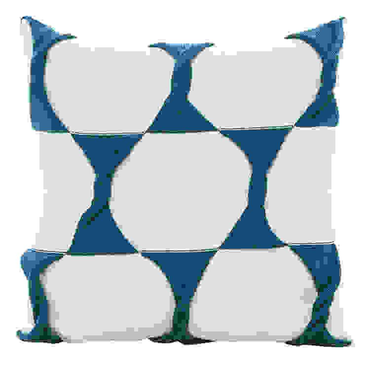Twist Cushion - Cream / Teal: modern  by From Brighton With Love, Modern