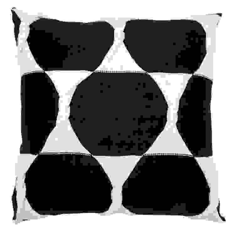 Twist Cushion - Jet: modern  by From Brighton With Love, Modern
