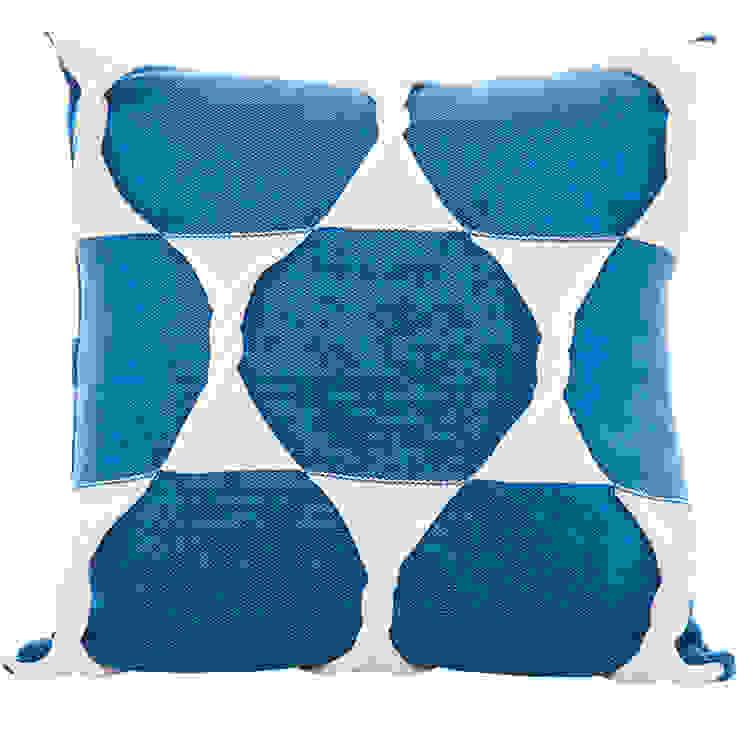Twist Cushion - Marine: modern  by From Brighton With Love, Modern