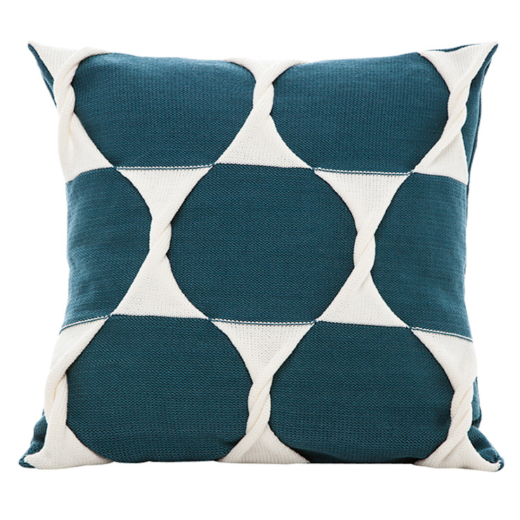 Twist Cushion - Teal: modern  by From Brighton With Love, Modern