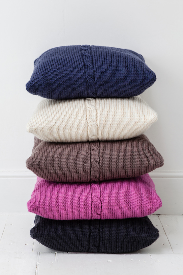 Chunky Cable Cushion: modern  by From Brighton With Love, Modern